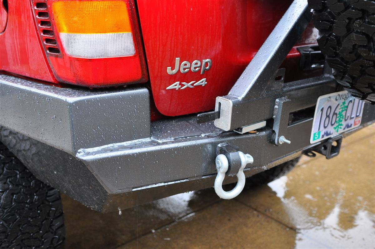 Jeep Cherokee 4X4 >> Rock Hard 4x4™ Patriot Series Rear Bumper w/ Tire Carrier ...
