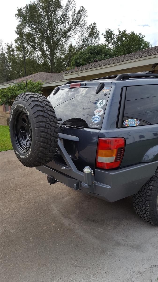 Rock Hard 4x4 Patriot Series Rear Bumper W Tire Carrier