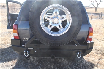 Rock Hard 4x4™ Patriot Series Rear Bumper w/ Tire Carrier for Jeep Grand Cherokee WJ 1998 - 2004 [RH-7050]