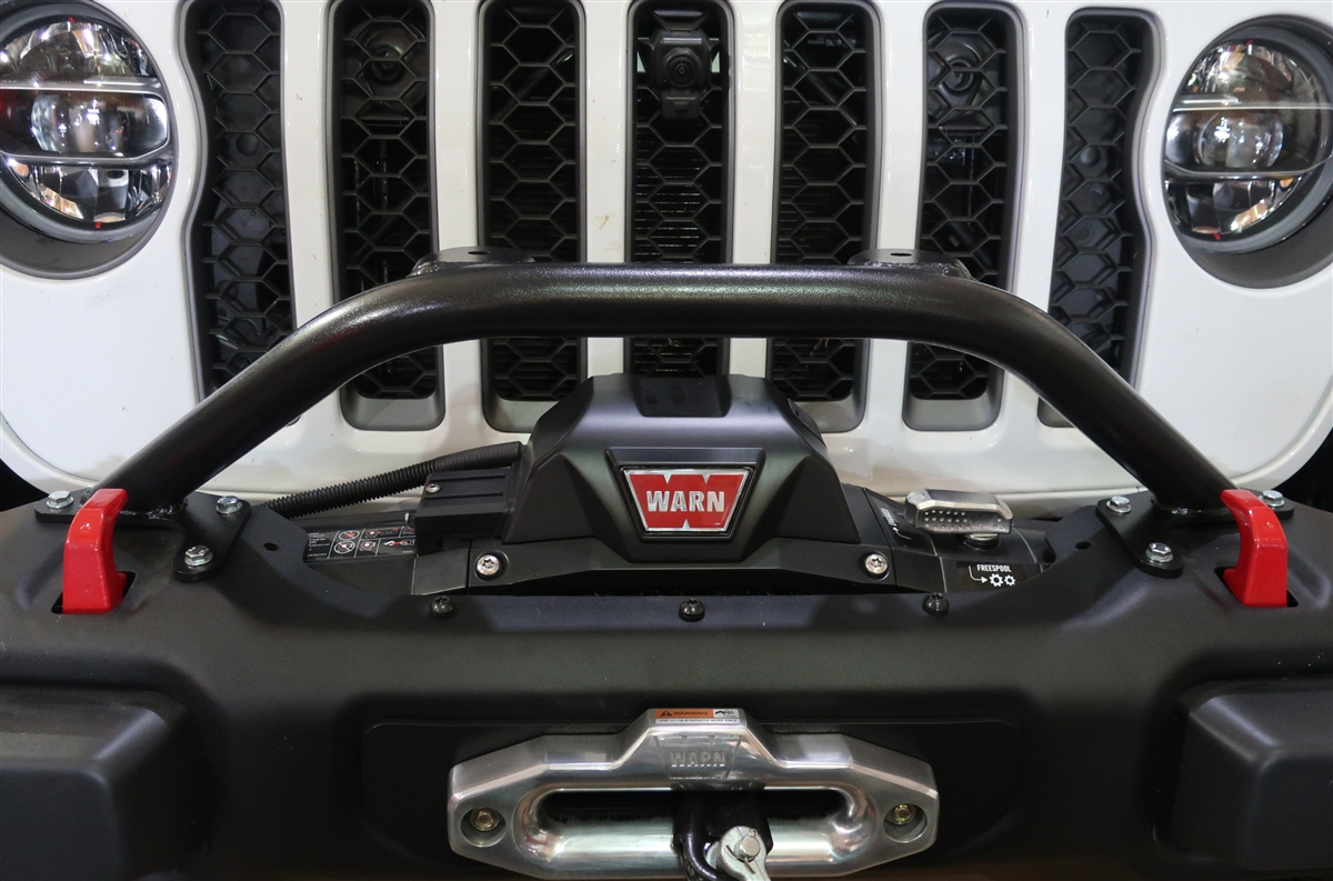 Rock Hard 4x4™ Winch Guard Plus Light Mount for 2018 Wrangler JL and Gladiator OEM Steel Front Bumper [RH-90204]