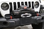 Rock Hard 4x4™ Winch Plate for Factory Plastic Front Bumper for Jeep Wrangler JL and Gladiator JT 2018 - Current [RH-90205]