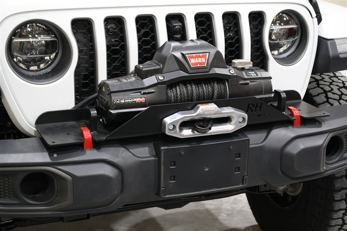 Winch For Jeep >> Rock Hard 4x4 8482 Winch Plate For Factory Plastic Front Bumper