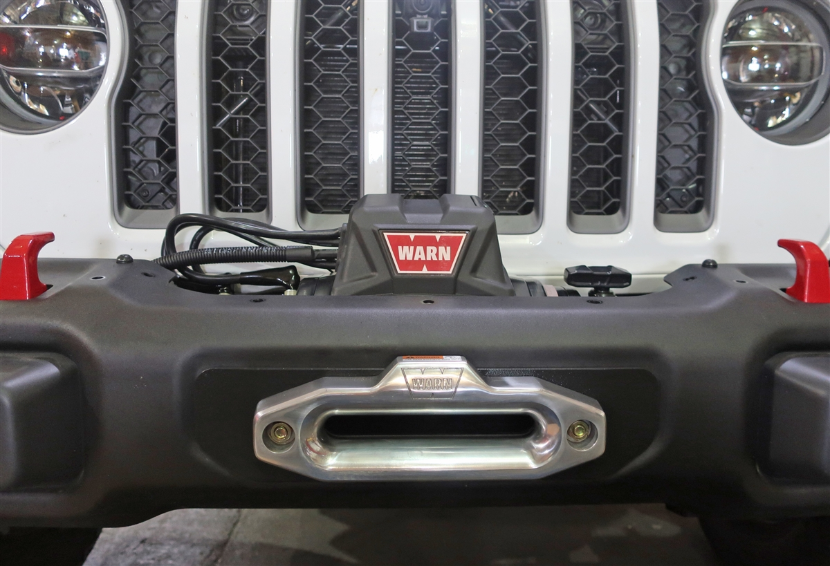 Rock Hard 4x4™ Winch Plate for Factory Steel Front Bumper for Jeep Wrangler JL and Gladiator JT 2018 - Current [RH-90206]