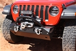 Rock Hard 4x4™ Stubby Winch Guard with Light Mounting Tabs for RH-90200 and 90202 Front Bumper [RH-90208]