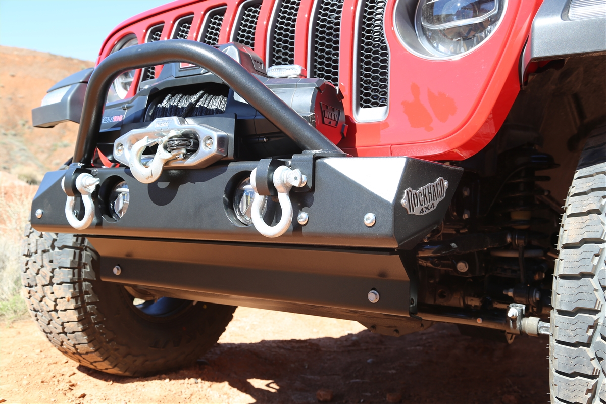 Rock Hard 4x4 Stubby Winch Guard With Light Mounting Tabs