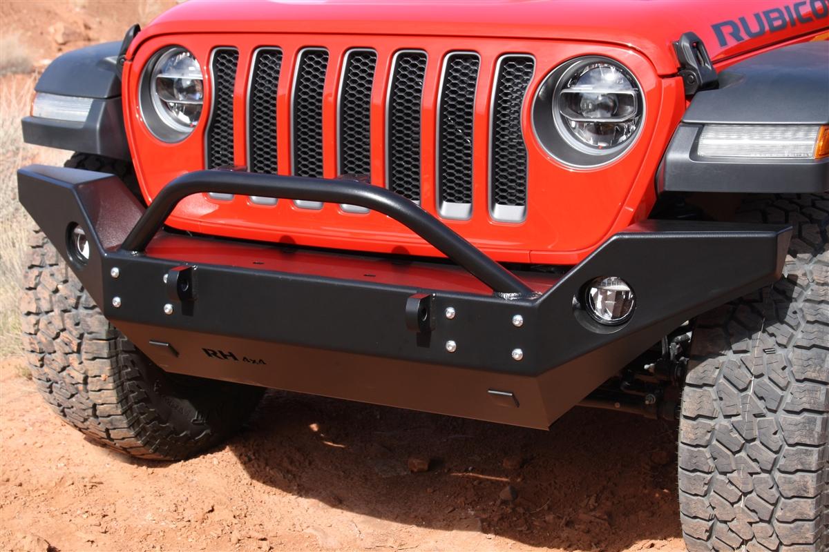 rock hard  aluminum patriot series full width front bumper  jeep wrangler jl