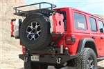 Rock Hard 4x4™ Patriot Series Rear Bumper with Tire Carrier for Jeep Wrangler JL 2018 - Current [RH-90301]
