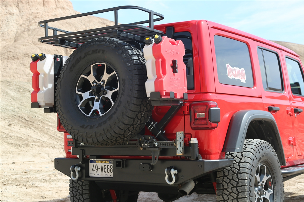Rock Hard 4x4™ Patriot Series Rear Bumper with Tire ...