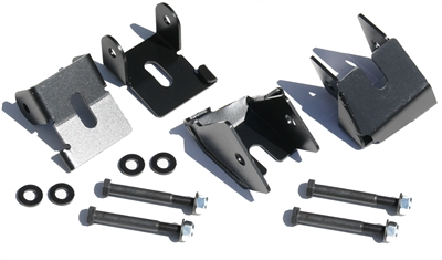 Rock Hard 4x4™ Bolt-On Front and Rear Lower Control Arm Skid Plates for Jeep Wrangler JK 2/4DR 2007 - 2018 D30 or D44 [RH-9032]