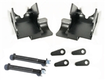 Rock Hard 4x4™ Bolt-On Rear Lower Control Arm Skid Plates with Shock Mount Skid for Jeep Wrangler TJ/LJ 1997 - 2006 D44 [RH-9033]