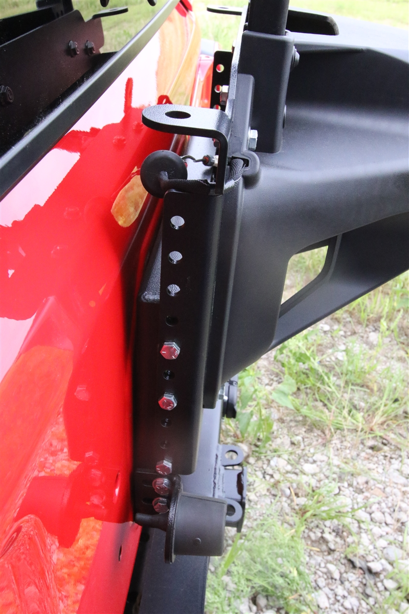 Rock Hard 4x4 U2122 Adjustable Spare Tire Carrier With Cb