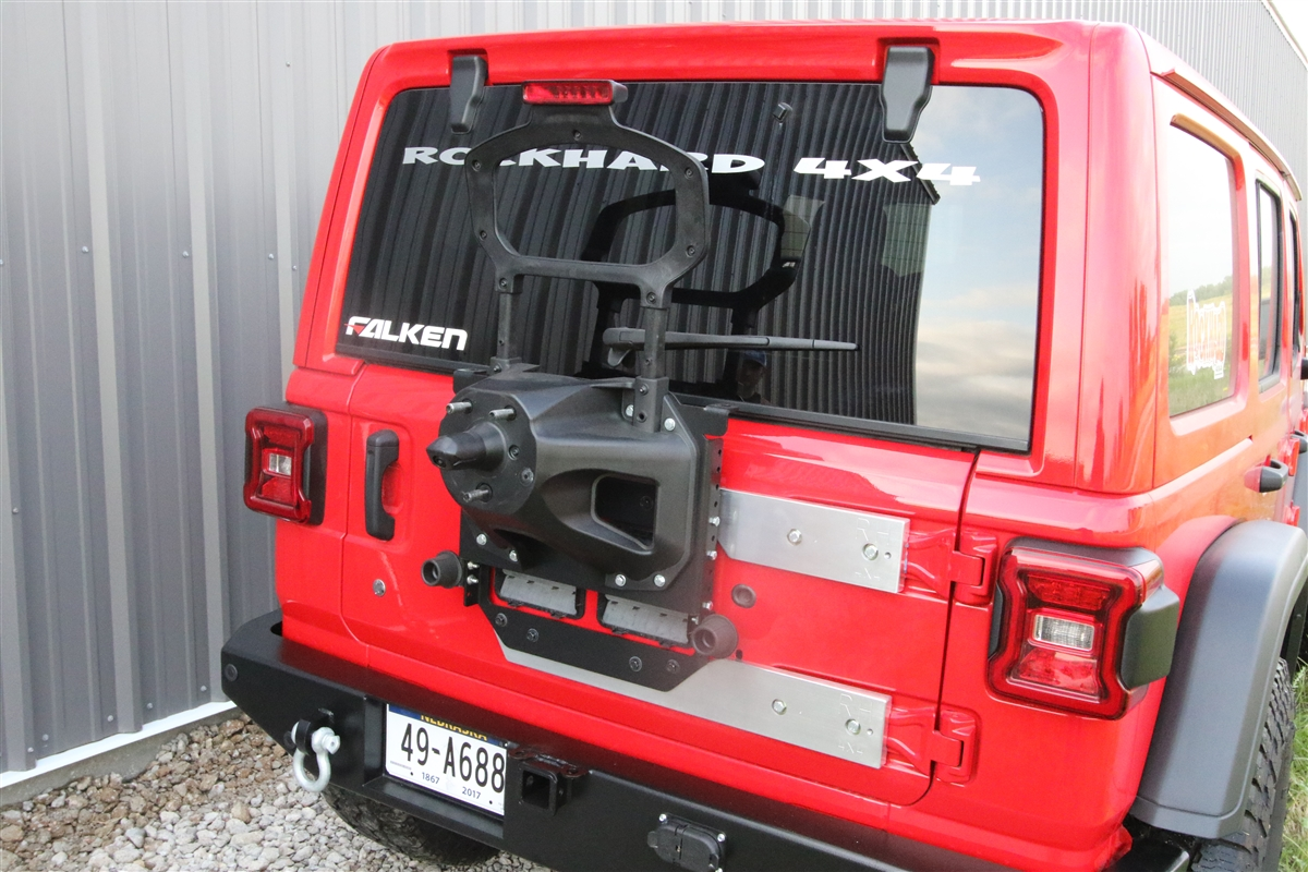 Rock Hard 4x4™ Freedom Series Body Mount Tire Carrier with Billet Aluminum  Braces for Jeep Wrangler JL 2018 - Current [RH-90350]