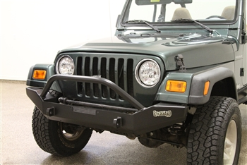 Rock Hard 4x4™ Aluminum Patriot Series Full Width Front Bumper for Jeep CJ5, CJ7, CJ8, YJ, TJ, and LJ 1976 - 2006 [RH-4050]