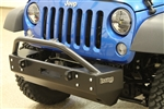 Rock Hard 4x4™ Aluminum Patriot Series Grille Width Front Bumper w/Lowered Winch Plate & No Fog Lights for Jeep Wrangler JK 2007 - 2018 [RH-5042]