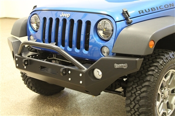 Rock Hard 4x4™ Aluminum Patriot Series Full Width Front Bumper w/ Lowered Winch Plate for Jeep Wrangler JK 2007 - 2018 [RH-5045]