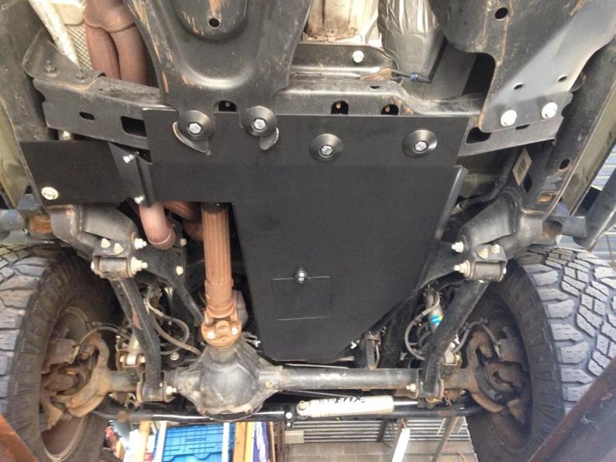 Rock Hard 4x4 Oil Pan Transmission Skid Plate Short